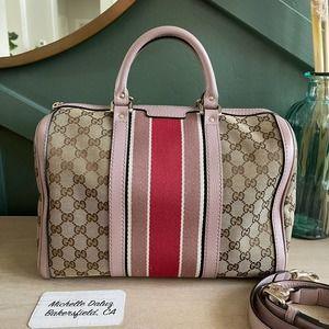 Gucci Boston GG Supreme Canvas Lt Pink Nude Bag 2